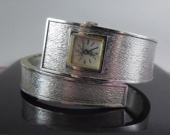 Vintage Bangle Bracelet Watch - Thelier - As Found Watch Does Not Work