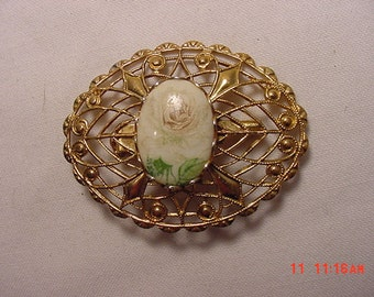 Vintage Filigree  Flower  Brooch   16 - 487