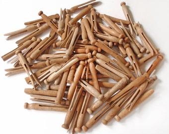 Vintage Wooden Clothespins