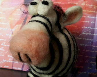 Mr. Z  Felted Zebra