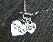 Wearing My Heart - Personalized Mother's Necklace - Solid Sterling