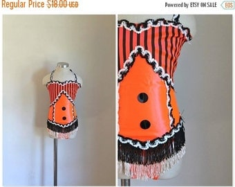 40% OFF back2school SALE vintage little girl's dance costume - JACKOLANTERN stage costume / sz 8-10
