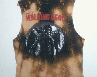 The Walking Dead TShirt / Muscle Tee / Long Armholes / Graphic Tee / Punk Rock / Indie / Grunge / Dead / Evil/ Horror / Unisex / Women / Men