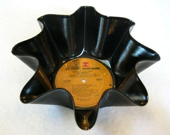 Jimi Hendrix Record Bowl Made From Vinyl Album Recycled Repurposed