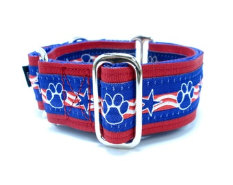 """Martingale or Buckle Collar, Houndstown Top Dog 1.5"""" Unlined, Any Size"""