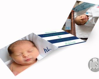 tri-fold baby announcements - Connor