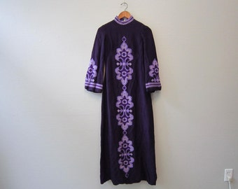 SALE ITEM Vintage 70s Purple Dress