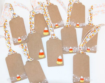Halloween Candy Corn Gift Tags Set of 11