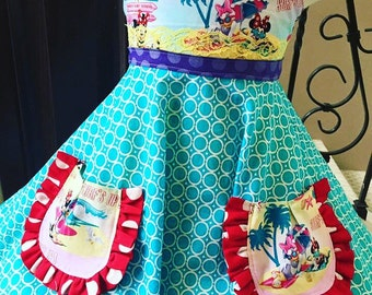 Custom Boutique Vacation Minnie Inspired Dress