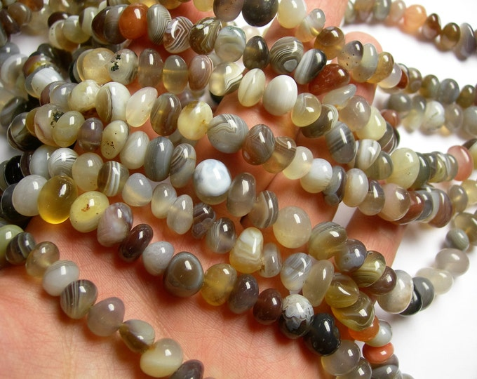 Botswana agate - bead - full strand - nugget - rounded pebble - A quality - PSC289
