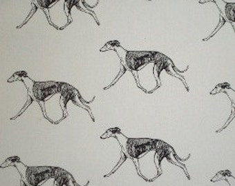 Greyhound Dog Fabric 3 All Cotton. Color is your choice 1 yd