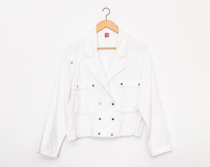 80s jacket NOS vintage white
