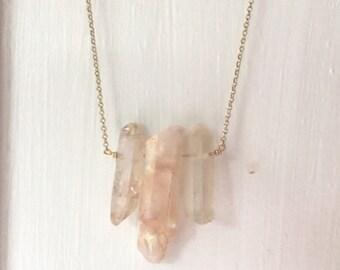 Rose Quartz Gold Filled Necklace