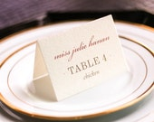 """Luxe Wedding Stationery, Blush and Champagne Wedding, Place Cards, Diamond Party Theme - """"Classic Elegance"""" Tented Placecard v3 - DEPOSIT"""