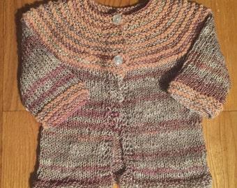 Ready to Ship/ Baby Girl Knit Sweater - newborn