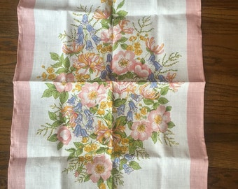 Ulster irish linen towel floral spray