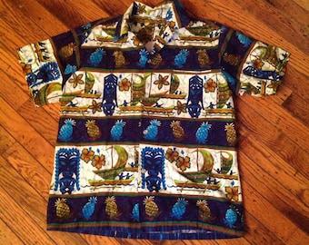 1950's Tropicana Honolulu Men's Hawaiian Shirt Sz M