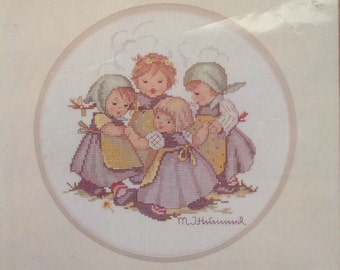 Vintage M.J. Hummel Cross Stitch Kit Pattern