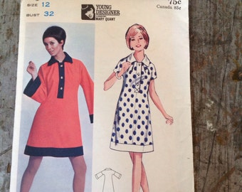 Vintage Butterick Sewing Pattern 4308 Dress Size 12 Bust 32
