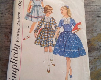 Vintage Simplicity Sewing Pattern 3570 Girl's Size 10 Dress