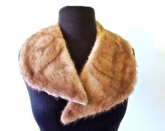 vintage mink collar - 1940s-50s mink fur collar scarf