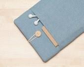 iPad air 2 case / iPad cover / iPad sleeve / iPad Pro case / iPad Air case / padded with pockets  - Indigo