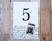 Paris Wedding Table Numbers French Wedding Table Decor Black and White