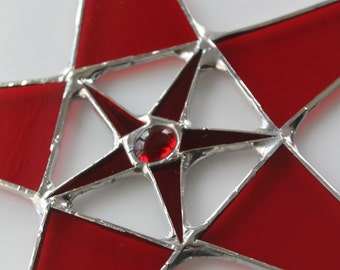 Red Inception Star- 10 inch star with 3 inch star center