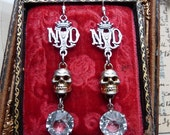 Antique European Memento Mori Skull Earrings, The Notre Dame, Talismans for the Passionate, by RusticGypsyCreations