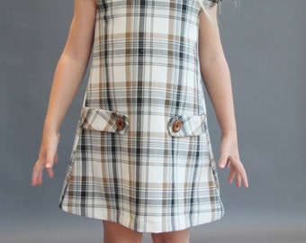 Sample SALE Dorset plaid dress 5T ready to ship jumper fall plaid 5y