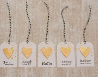 5 handmade gift tag