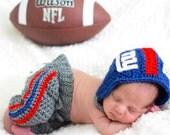 NY Giants football helmet pant set, Giants Baby Helmet Pants, Baby New York Giants Outfit
