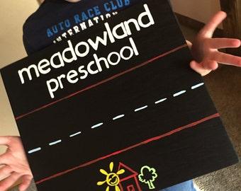 Custom School Chalkboard Sign-Teacher Gift-photo prop