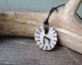 Birch Uruz Rune Pendant