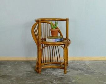 Mid Century Franco Albini Style Rattan Armchair // Corner Chair