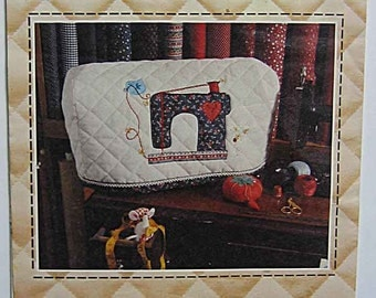 RARE 1980's Sewing Machine Cover Applique Pattern #345B by Patch Press June Williams UNCUT