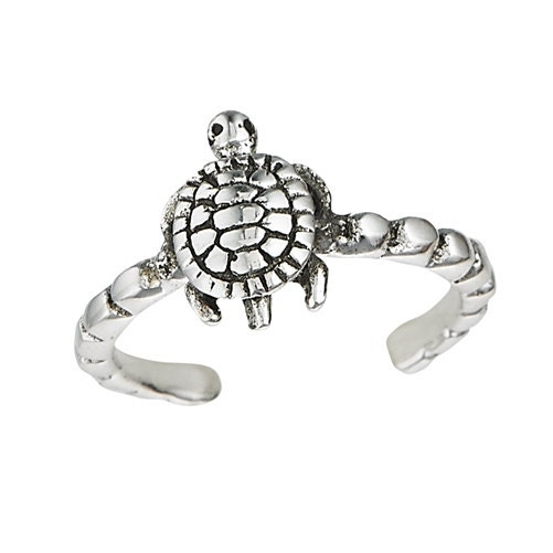 sterling silver turtle ring adjustable