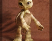 Shelly the Turtle - blushed ball joint doll / BJD - custom colored white resin