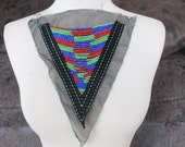 Cute embroidered  and beaded    applique trim  1   pieces listing