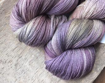 Violet Chintz -  Hand Dyed Merino Silk Lace Yarn