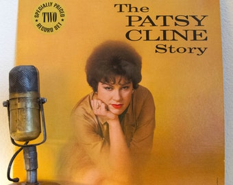 "ON SALE Patsy Cline Vinyl Record Album LP 1950s Country Western Music ""The Patsy Cline Story"" (1974 Mca re-issue w/""Crazy"",""I Fall To Pieces"