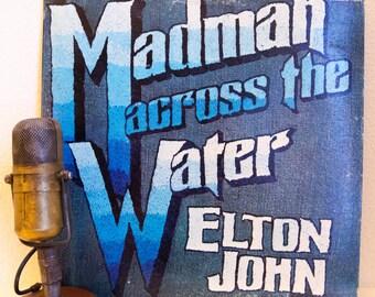 "Vinyl Record Album Elton John 1970s Pop Pomp British Rock and Roll Classic Rock Diva LP ""Madman Across the Water"" (1971 Uni w/""Tiny Dancer"")"