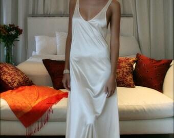Bridal Nightgown Satin Slip Dress Liner Bridal Slip Wedding Slip Formal Length Slip Dress Liner Add  A Slip Champagne White Black