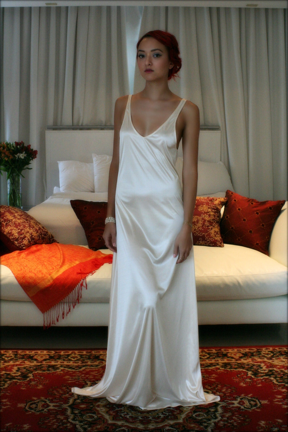 bridal nightgown satin slip dress liner bridal slip wedding