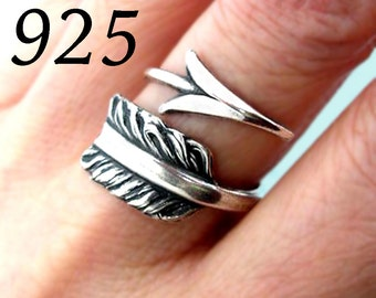 Arrow ring Unique Sterling Silver Jewelry Adjustable ring Sterling silver ring archery ring gift for her  R-018-224