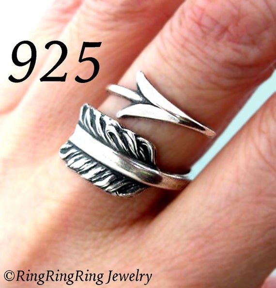 Arrow ring Unique Sterling Silver Jewelry Adjustable ring Sterling silver ring archery ring gift for her Not spoon ring  R-018-224
