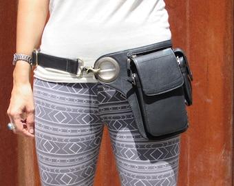 Leather Belt Bag Leather Utility Belt Hip Belt Bag Travel Festival Belt with Pockets Cross Body Bag HB35a