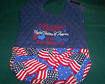 Flag Marine  Reversible   Bib with Pocket