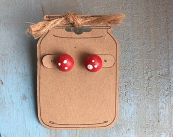 Toadstool earrings