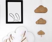 SALE: Kids Bunny Poster / Kids Decor / Monochrome Nursery Print / Black and White Wall Art / Rabbit Poster / Animal Print / Scandinavian Art